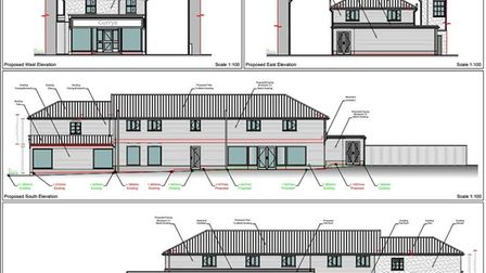 Plans would see the retail space at 27 Mere Street in Diss more than double with two first floor fla
