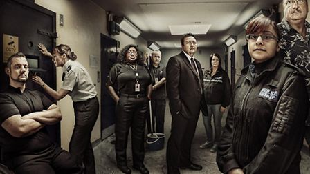 The 24 Hours in Police Custody team at Luton Police Station. Pic: Channel 4