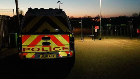 Late evening patrols conducted at Manor Road Park in Long Stratton after recent reports of vandalis