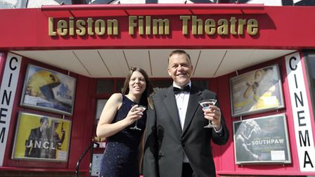 Leiston Film Theatre Assistant Manager Hannah Everett and General Manager Wayne Burns have their mar