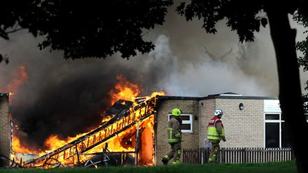 John Ray Infant School, Braintree, had to be re-built after it was destroyed by fire in 2013. Pictur