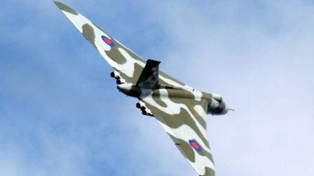 Vulcan in the skies at this year's Clacton Airshow where it performed its display