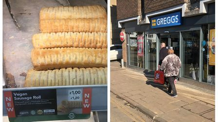 Greggs vegan sausage rolls have proved popular since finally going on sale in Diss. Pictures: Simon