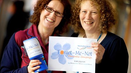 Maggie Woodhouse and Julie Fountain at the official launch of the Forget-Me-Not Dementia Campaign in