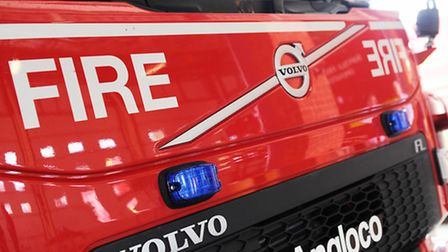Fire crews were sent to the scene in Fressingfield