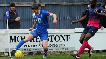 David Lampshire scored for Bury Town at the weekend