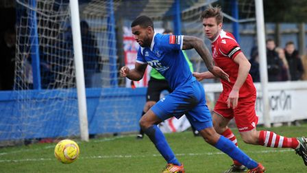 Remi Garrett was on target for Bury Town against Witham