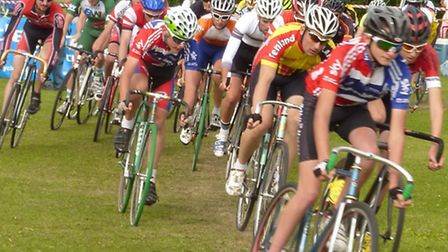 Action from the Mildenhall Cycling Rally