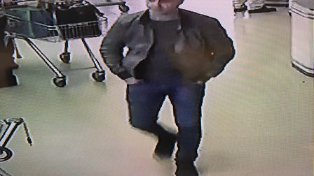 Police are appealing for help to trace a man following a theft in Diss Aldi. PHOTO: Norfolk Constabu