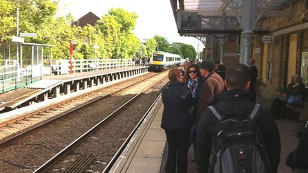 Saxmundham Station - which is due to get new information screens.