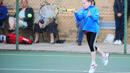 Annual Bury and West Suffolk Tennis Tournament at Culford School. Pictured is Louise Booker.