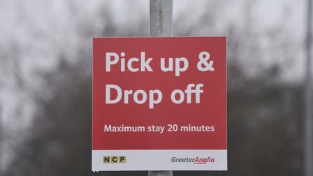 Drivers dropping people off will not be affected by new parking measures at Diss train station inclu