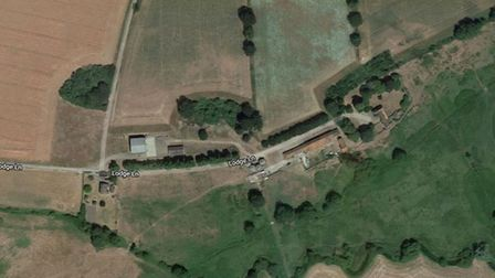 A casualty was taken to hospital after a fall near Lodge Lane in Gasthorpe near Thetford. PHOTO: Goo