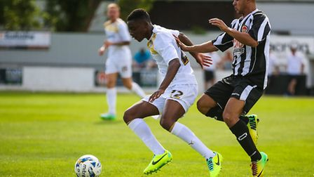 Kane Vincent-Young, in action against Heybridge at the start of pre-season