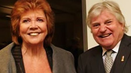 Bury St Edmunds photographer Tom Murray with Cilla Black at a private viewing of his London exhibiti