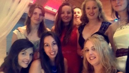 The ladies of Hadleigh YFC celebrating their clubs' successful night at the Suffolk Young Farmers Em