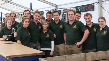 The Essex Young Farmers bar team at last year's Barleylands Country Show.