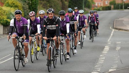 Hadleigh Cycle Club members are pictured ahead of their cycle event.