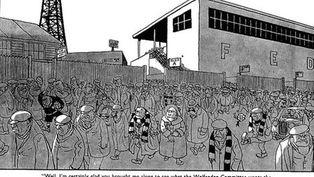 A Giles cartoon published in October, 1960, and inspired - says John Field - by Ipswich Town's groun