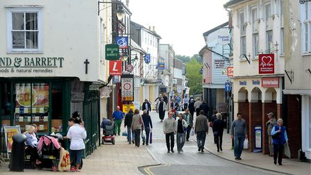 Diss town cente in 2010, has it declined or is it on the way up? Picture: Denise Bradley