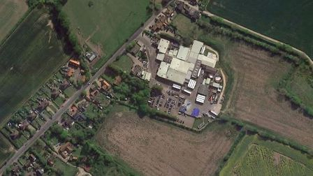 Crown Farm in Weybread, where developers are seeking to build 110 homes Picture: Google