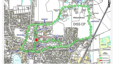 A roundabout in Walcot Green will be closed on March 23. PHOTO: Norfolk County Council