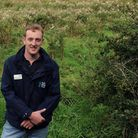 Will Cranstoun (West Suffolk Reserves Manager) is pictured at Suffolk Wildlife Trust's reserve at No