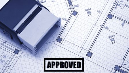 Permission approved for housing. Stock image.