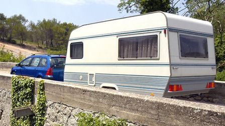 A generic file picture of a touring caravan.