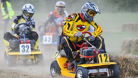 Lawnmower racing at Blake House Craft Centre. Picture: ROGER KING.