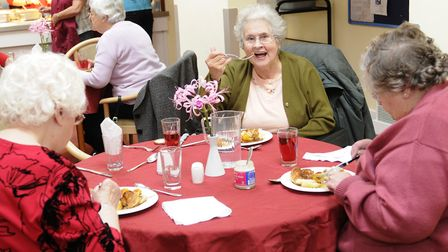 Age Concern's first Great Sunday Lunch event at the Denny Centre in Diss in 2009. The Centre closed