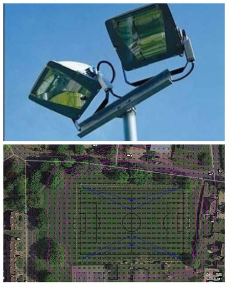 Work on Harleston Town's new floodlights will start in the next few weeks. A survey of light polluti