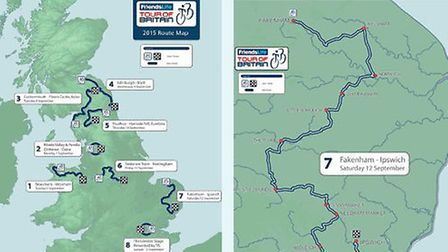 The Tour of Britain route