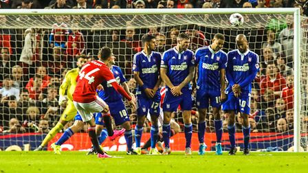 Andreas Pereira scores United's second goal. Picture: Steve Wallerwww.stephenwaller.com