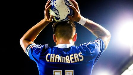 Luke Chambers has now made 100 appearances as Ipswich Town captain