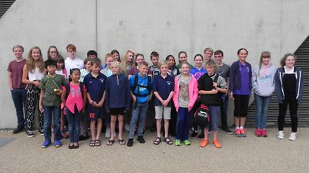 Swimmers from Mildenhall SC visited the London Aquatics Centre for a training session over the summe