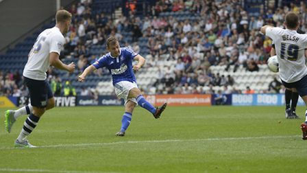 Ryan Fraser strikes the winning goal against Preston North End during the second half