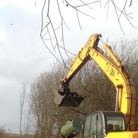 A digger has been stolen from Winfarthing. Police have warned residents to be vigilant. Picture: Arc