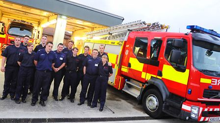 Fire crews from Long Melford and Sudbury looking for new members