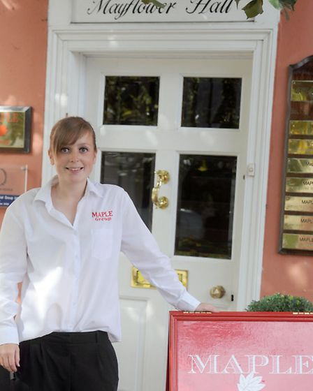 Becky Howard is pictured at work at the Maple Group in Long Melford. Becky is an on-call fire fighte