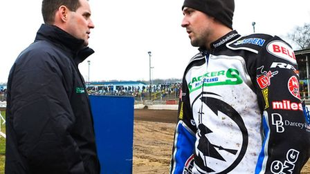 Witches Director of Speedway Chris Louis with Danny King
