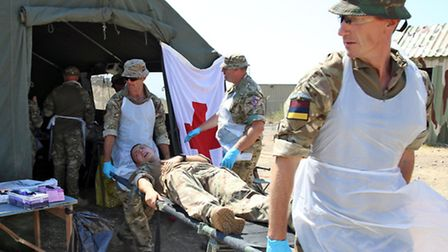 Personnel from 16 Medical Regiment Colchester come to Gibraltar to participate in Ex Barbary Sun. Ph