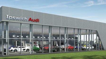 A computer generated image of the Marriott Motor Group's new Audi showroom, planned at Futura Park i
