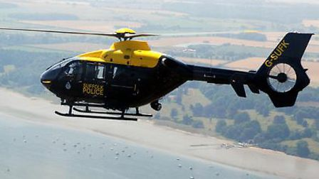 The police helicopter proved crucial in locating a motorcyclist who had fallen off his bike and into