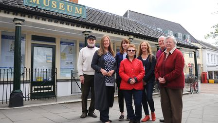 Project manager Sheila Moss King with the committee behind the Heritage Triangle. Picture: Sonya Dun
