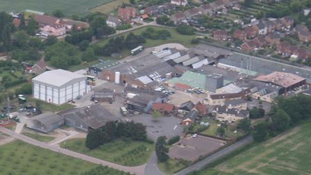Aerial view of Tiptree jam factory. Photo: Contributed
