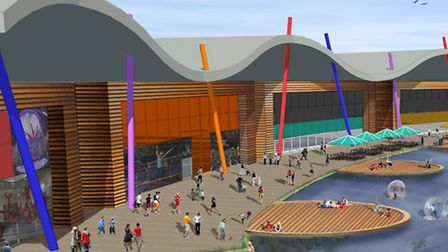 Artists' impression of the new Active Leisure Units at Northern Gateway