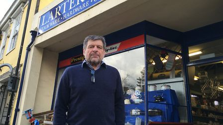 Carl Edwards, owner of Diss hardware store Larter & Ford, said loyal customers had helped businsess
