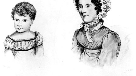 Drawings, held at Moyses Hall museum, Bury St Edmunds, of the main personalities involved in the tra