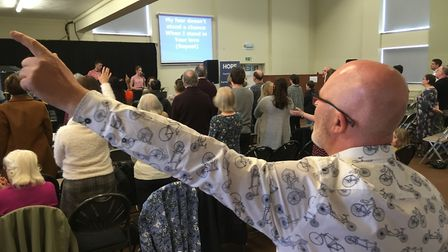 Hope Church regularly attracts 250 worshippers to its Sunday services but has no permenant base in H